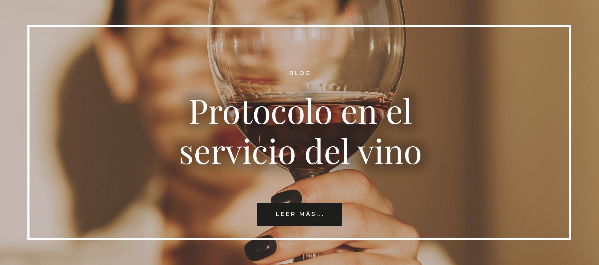 PROTOCOLO EN EL SERVICIO DE VINO